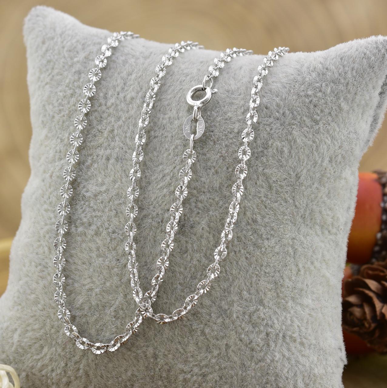 Серебряная цепочка длина 45 см ширина 1 мм вес 3.37 г