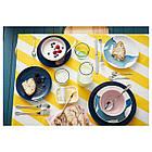 IKEA BEHAGA (003.189.04) Десертная тарелка, темная бирюза, фото 2