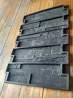 """Форма из вулканизированной резины """"Винтаж"""" для гипсовой плитки под деревянную мозаику 375х110 мм"""