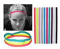 Эластичная повязка резинка на голову тренировочная Single Headband , фото 1