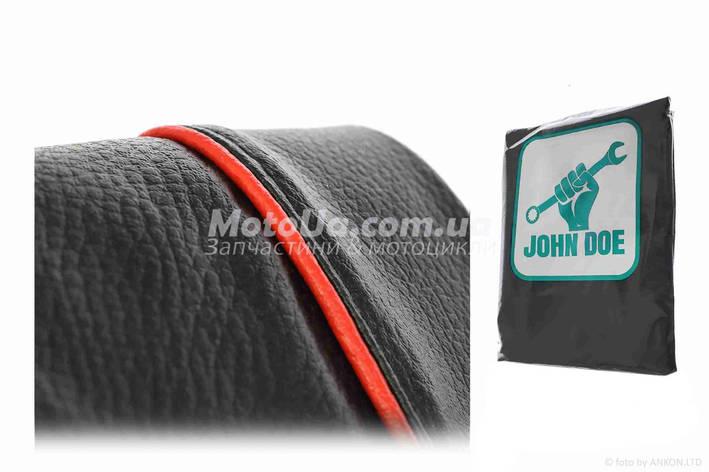 Чехол сиденья HONDA DIO AF-27/28 черный, красный кант JOHN DOE, фото 2