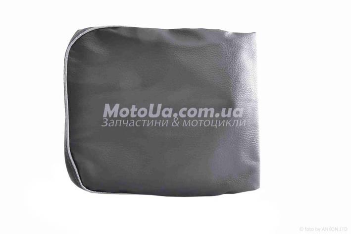 Чехол сиденья HONDA DIO AF-18/25 темно-серый, серебристый кант JOHN DOE, фото 2