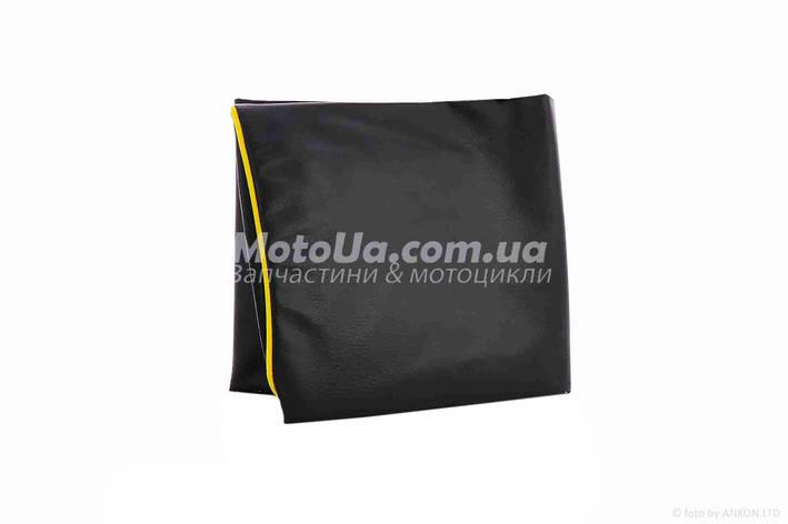 Чехол сиденья HONDA DIO AF-27/28 черный, желтый кант JOHN DOE, фото 2