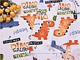 Сатин (хлопковая ткань) динозавры и машинки (40*160), фото 2