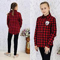Рубашка для девочек, красная клетка.