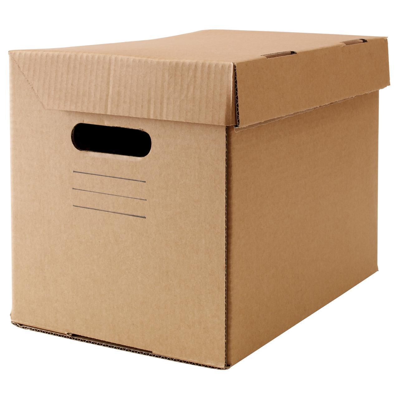 IKEA PAPPIS (001.004.67) Коробка с крышкой, коричневый