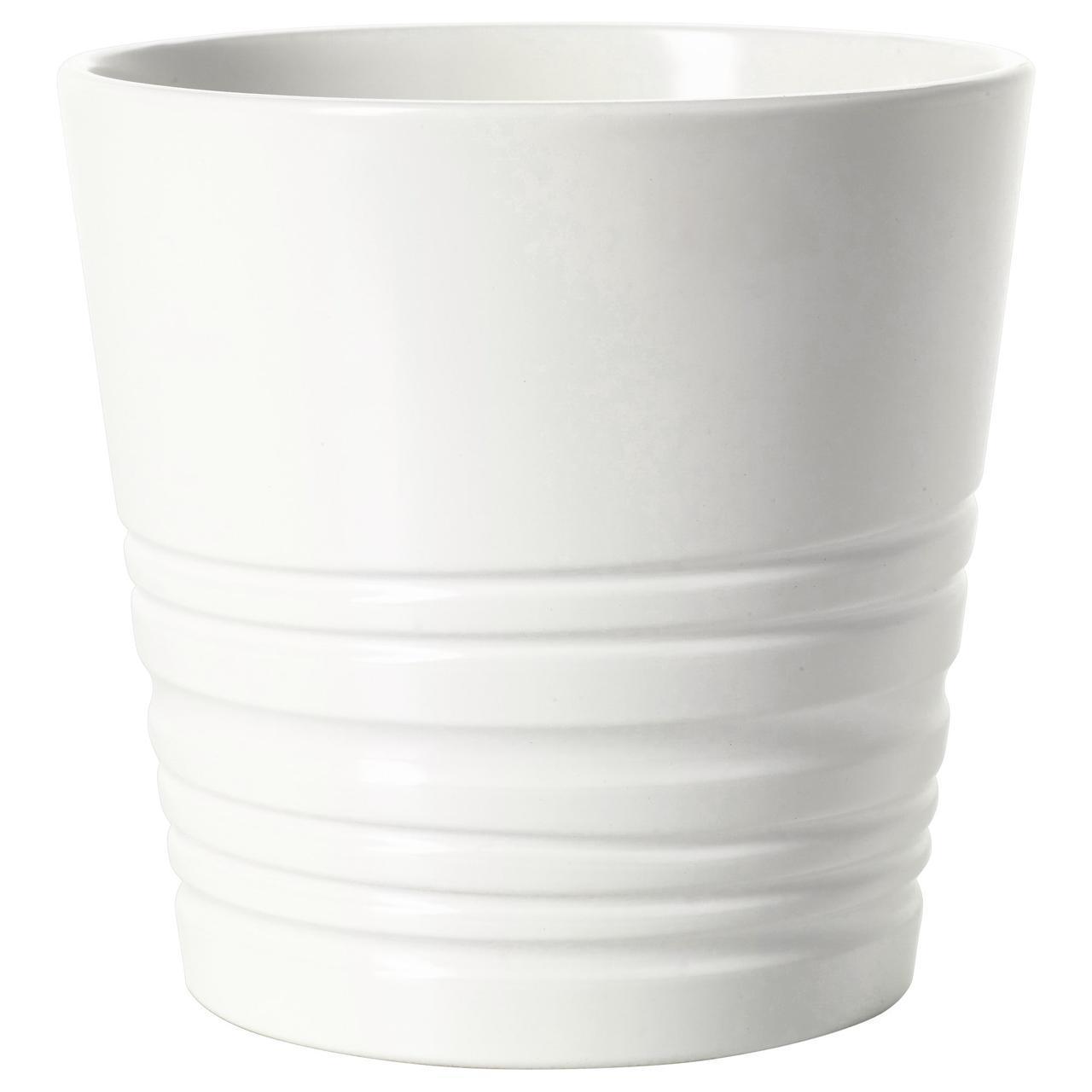 IKEA MUSKOT (303.082.01)  Кашпо, белый