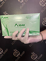 Опудренные перчатки латекс отличного качества IGAR / Игар 100 шт/уп размеры S, M, L