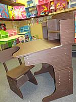 Детская парта BAMBI HB-2071-04-14 парта растишка с полочками, регулируется наклон столешницы, фото 1