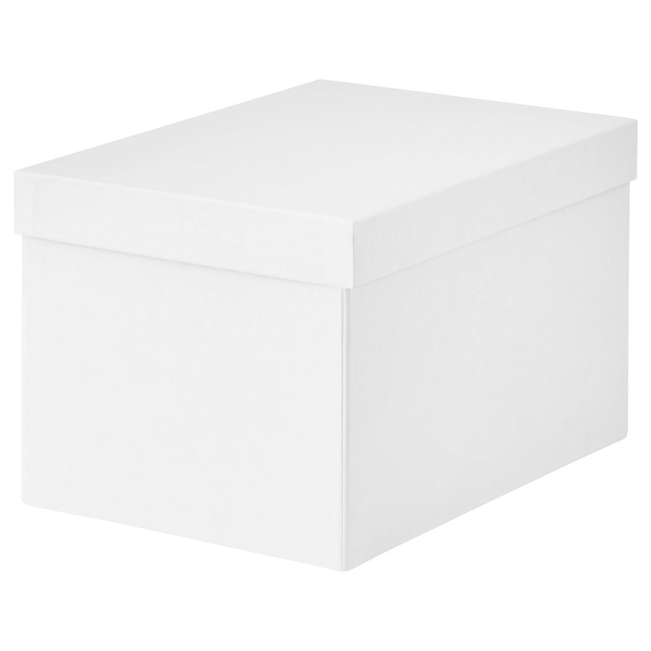 IKEA TJENA (103.954.21) Контейнер с крышкой, белый