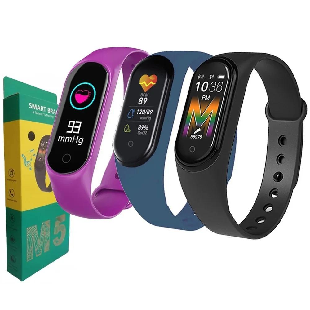 Фитнес браслет M5 Band Smart Watch Bluetooth 4.2, шагомер, фитнес трекер, пульс, монитор сна (А-25)