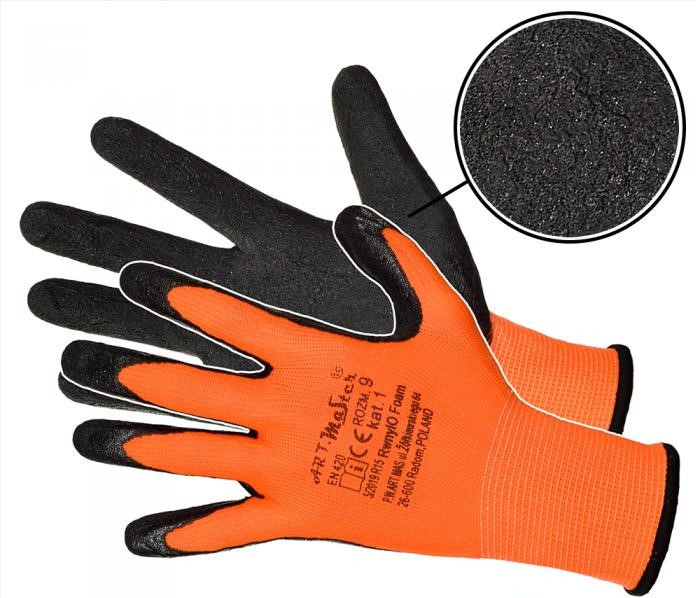 Защитные перчатки Artmas RWnyl O Foam kat.1, оранжевый/черный, 8