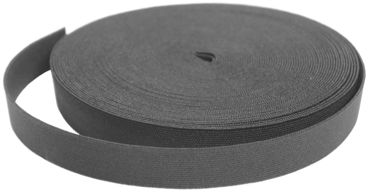 Резинки на голенище эластичные  1 см. цвет черный (Италия)