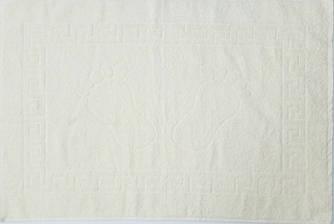 Полотенце махровое для ног молочное (Турция)