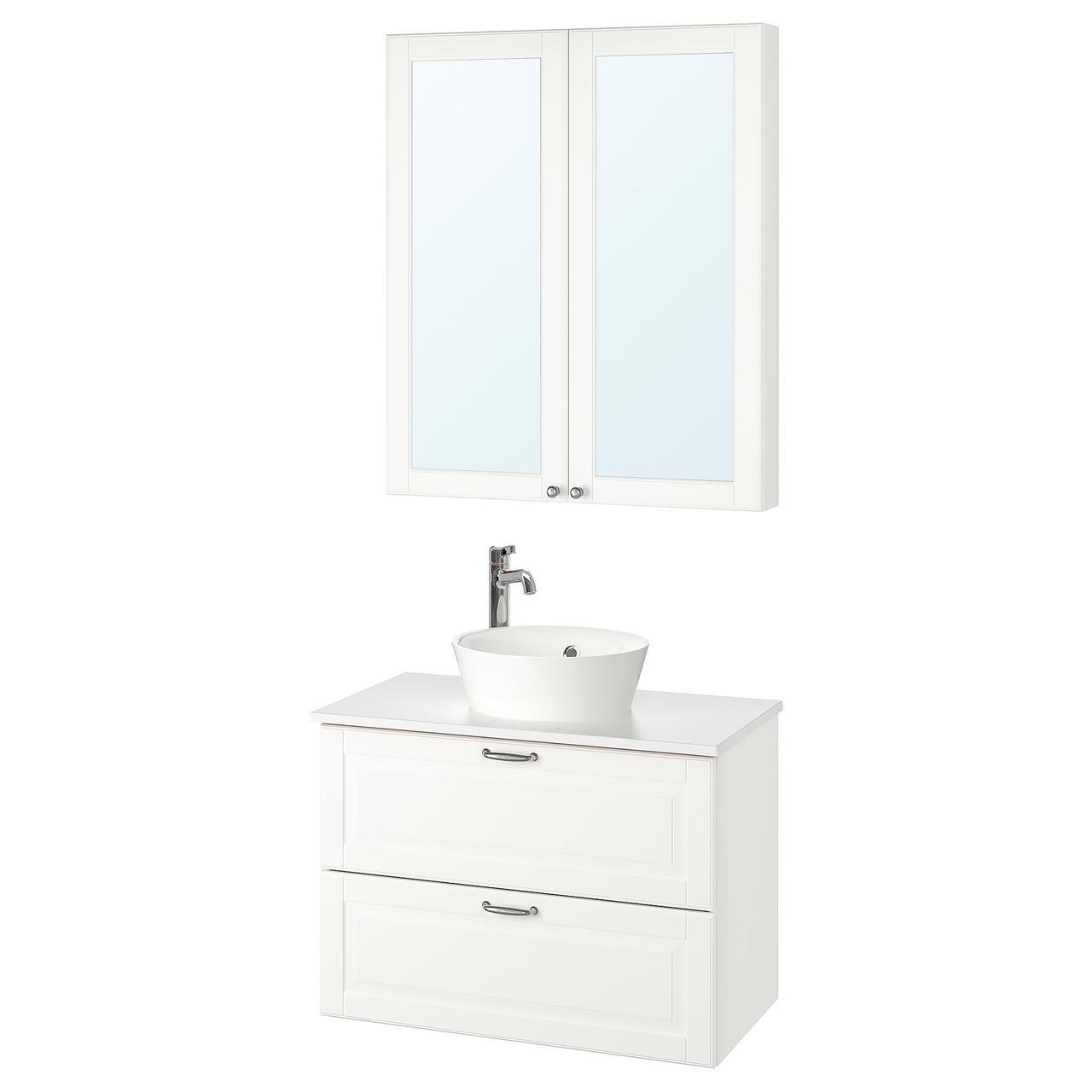 IKEA Комплект мебели для ванной GODMORGON/TOLKEN / KATTEVIK ( 593.045.04)