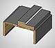 Коробка ПВХ Delux МДФ,100х32х2050 мм с уплотнителем (Патина серая) комплект, фото 3