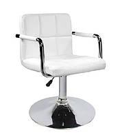 Кресло Артур кожзам Черный (СДМ мебель-ТМ) Белый