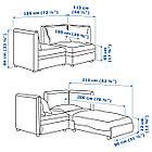 IKEA Модульная секция дивана VALLENTUNA (292.770.31), фото 6
