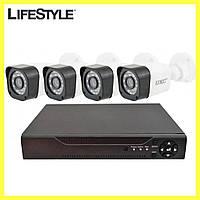 Комплект системы видеонаблюдения UKC DVR D001 1mp x 4ch / Регистратор 4-канальный 4 камеры