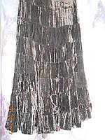 Юбка чернный бархат ярусная, фото 1