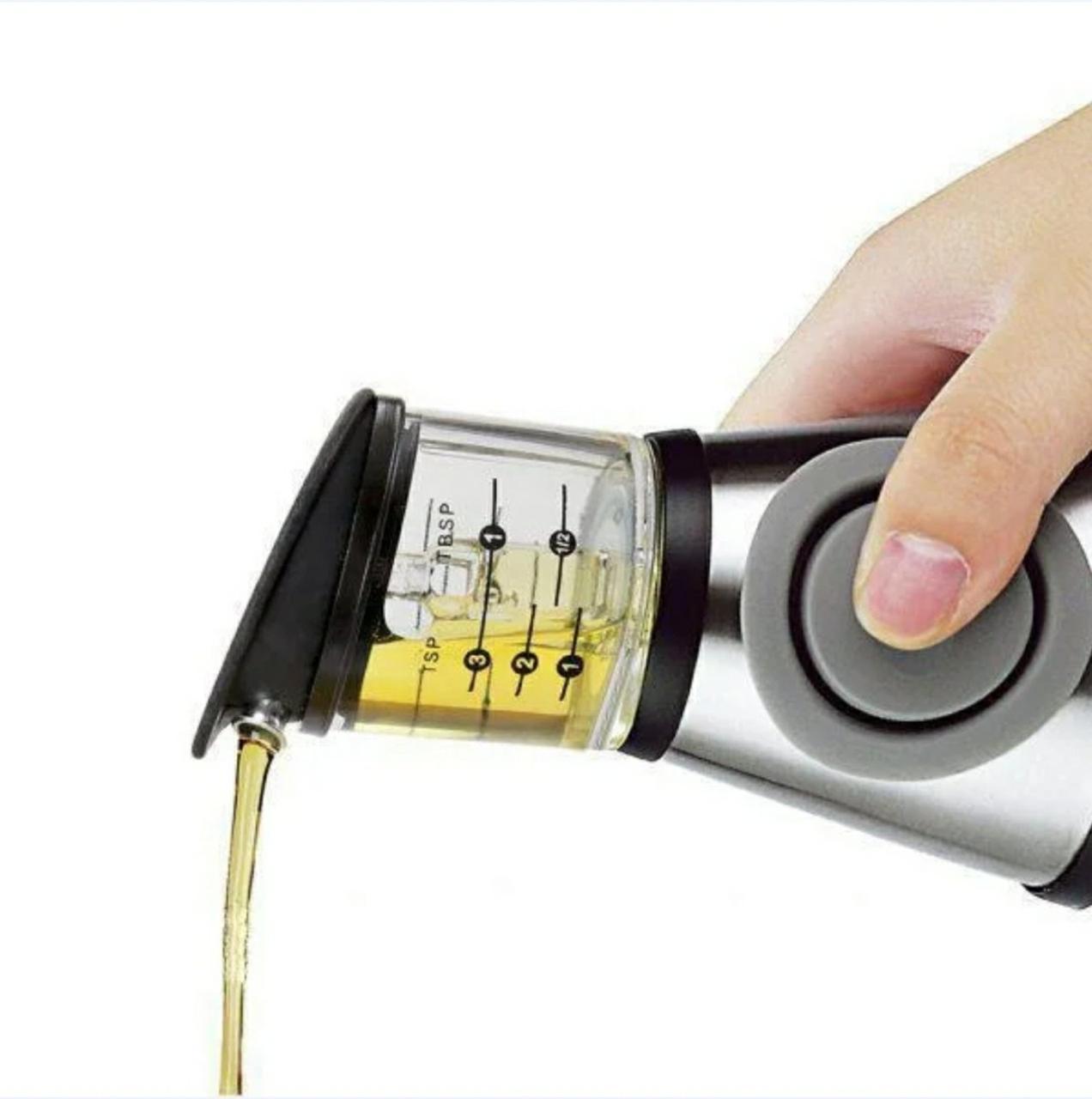 Диспансер бутылка для оливкового и подсолнечного масла, с мерной чашей Press Measure Oil Dispenser