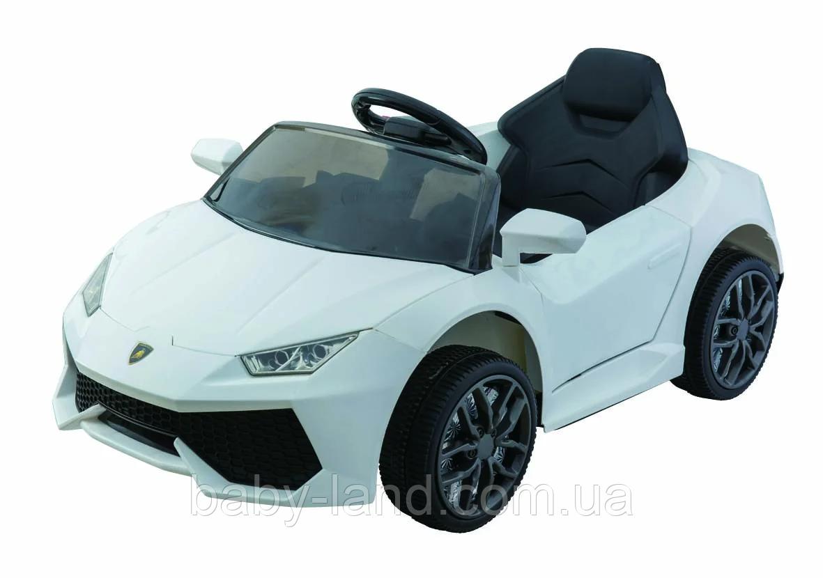 Электромобиль детский аккумуляторный EVA колеса T-7655 белый