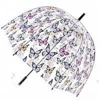 Прозрачный зонт трость Zest Бабочки ( механика ) арт. 51570-10