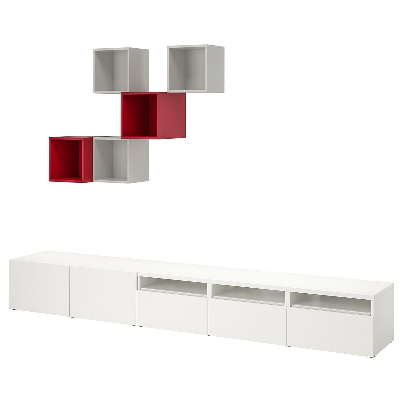 IKEA Тумба под ТВ и полки BESTÅ / EKET (692.868.68)