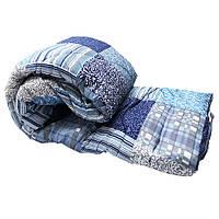 Одеяло Lotus flower холлофайбер 175/210 голубые квадраты
