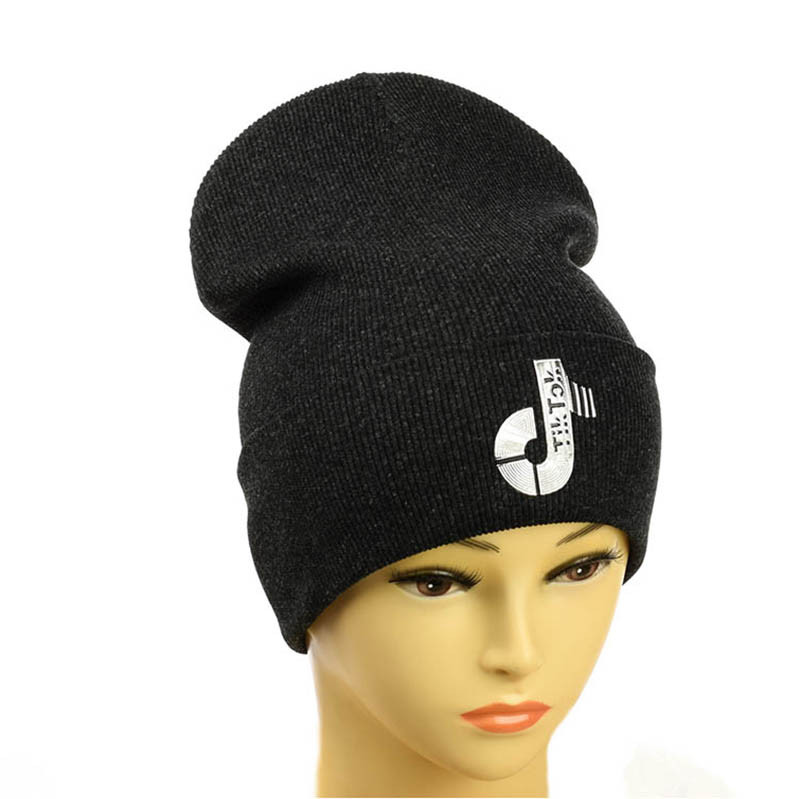 "Подростковая шапка ""Tik-Tok"" темно-серый"