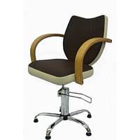 Парикмахерское Кресло Толедо на пневматике Крестовина Хром, кожзаменитель Boom-13+07 (Frizel TM)