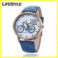 Женские наручные часы / Часы на руку с велосипедом + Подарок кошелек Baellerry !