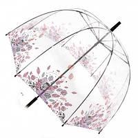 Прозрачный зонт трость Zest Листва ( механика ) арт. 51570-11