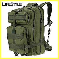 Армейский Рюкзак 45л Oxford 600D - штурмовой военный + Подарок! Зеленый (50х30х30 см), фото 1