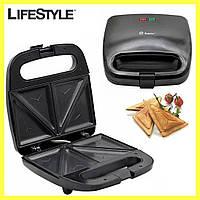 Сэндвичница + Подарок Кухонный нож! Бутербродница электрическая Domotec MS-7777