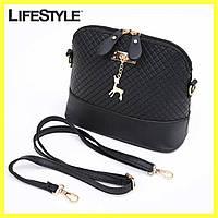 Женская сумка клатч Бэмби + Подарок Набор для маникюра!  Сумка Бемби Черная (23x20x10 см)