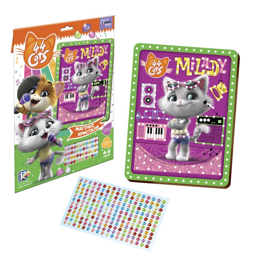 """Детский набор для творчества """"Milady"""" «Магические кристаллы. 44 Котёнка» VT4411-04 от 3х лет"""