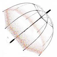 Прозрачный зонт трость Zest Конфетти ( механика ) арт. 51570-12