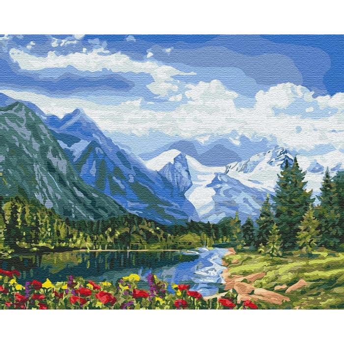 """Картина по номерам. """"Альпийское совершенство"""" 40*50см KHO2288"""