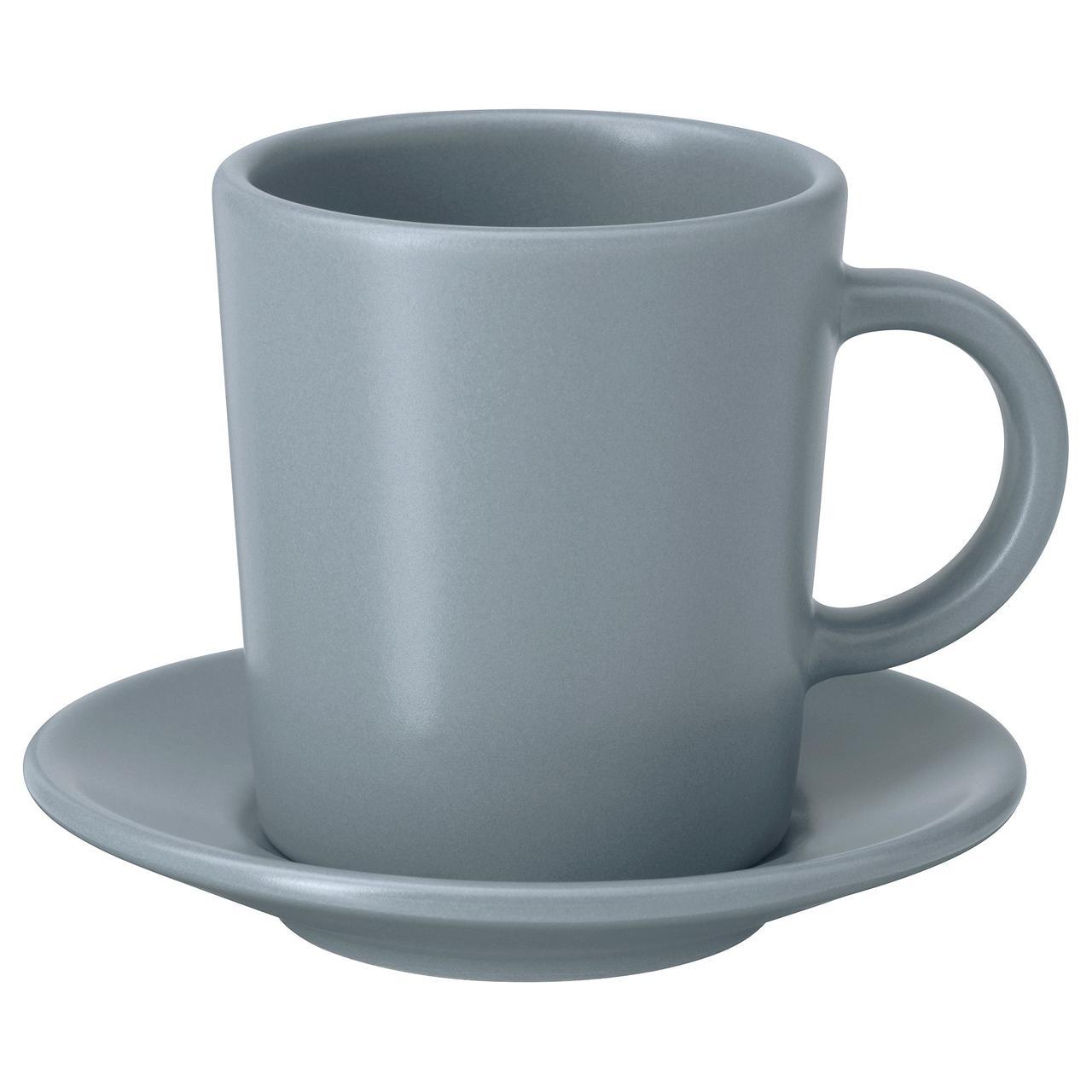 IKEA Чашка для кофе эспрессо с блюдцем DINERA ( 004.240.18)