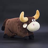 Сладкий подарок в мягкой игрушке Подушка Бычок №14-I/3 500 грамм