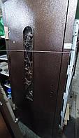 Двери входные L 86 - Молотковые, стекло + ковка