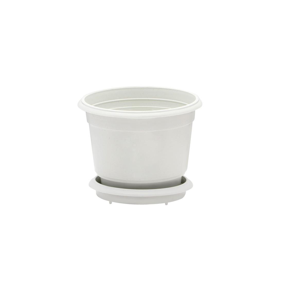 Горщик квітковий D 8 см білий Юнипласт