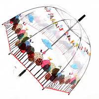 Прозрачный зонт трость Zest Волшебный сад ( механика ) арт. 51570-14