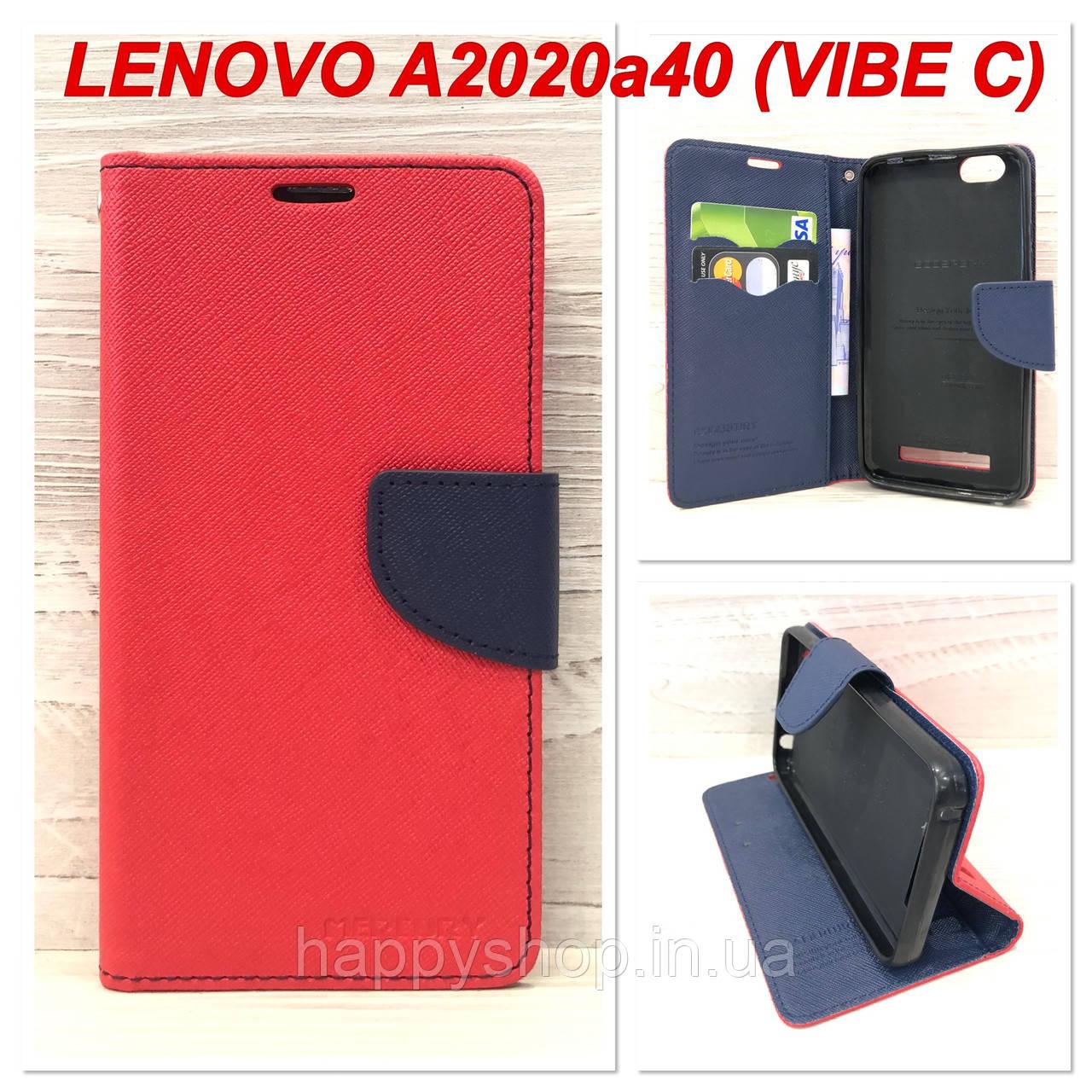 Чехол-книжка Goospery для Lenovo A2020a40 (Vibe C) Красный