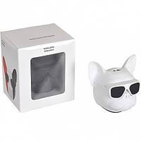 Колонка портативная Голова собаки 597-5 (Белый)