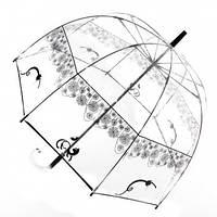 Прозрачный зонт трость Zest Кошки( механика ) арт. 51570-15