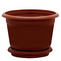 Горщик квітковий D 30 см коричневий Юнипласт