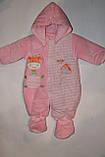 Чоловічок велюровий утеплений(на легкому сінтопоне)на новонародженого., фото 4