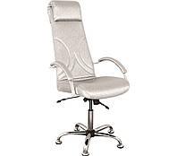 Кресло для Визажа и Педикюра Aramis кожзаменитель Rainbow Silver (Velmi TM)